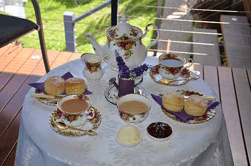 Afternoon tea on the deck was a delight.